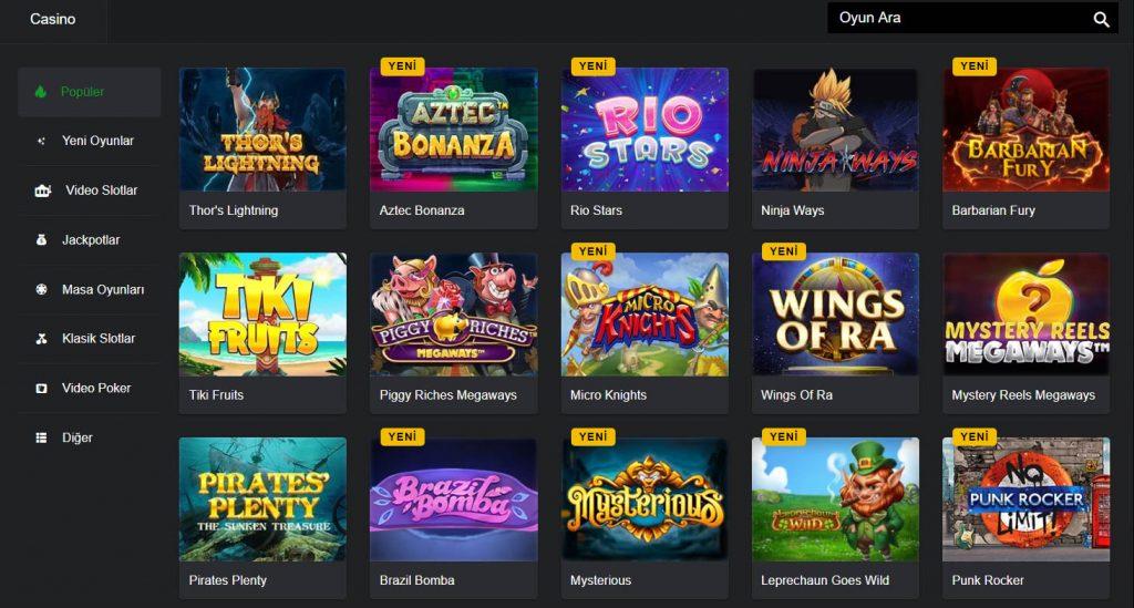 Populer Casino Oyunlari